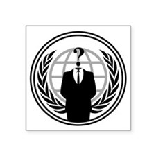 "Anonymous Logo Square Sticker 3"" x 3"""