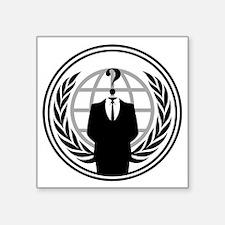 "Anonymous Logo Square Sticker 3"" x 3"""