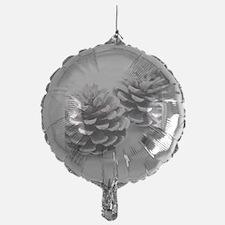 silver pine cones Balloon