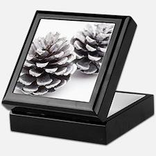 silver pine cones Keepsake Box