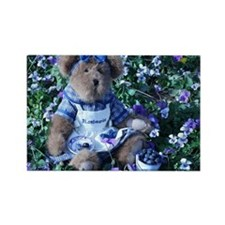 Bluebeary_In_Blueberries Rectangle Magnet