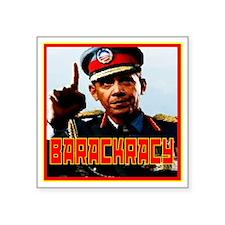 "Barackracy Square Sticker 3"" x 3"""