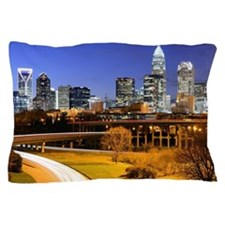 skyline of Uptown, the Financial Distr Pillow Case