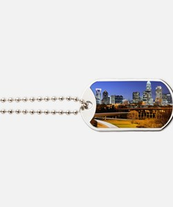 skyline of Uptown, the Financial District Dog Tags