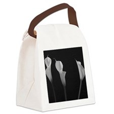 White Lilies Canvas Lunch Bag
