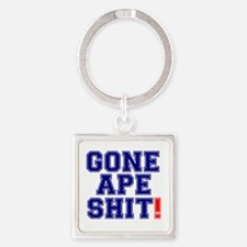 GONE APE SHIT! Square Keychain
