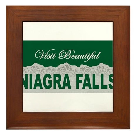 Visit Beautiful Niagra Falls Framed Tile