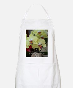 Yellow Orchid with Buddha Quote Apron