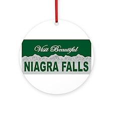 Visit Beautiful Niagra Falls Ornament (Round)