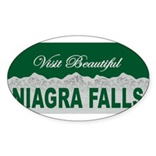Visit Beautiful Niagra Falls Oval Decal