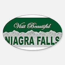 Visit Beautiful Niagra Falls Oval Decal