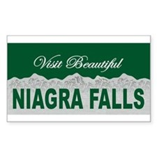 Visit Beautiful Niagra Falls Rectangle Decal