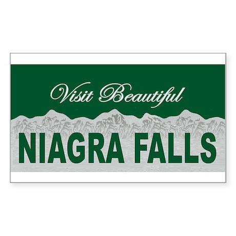 Visit Beautiful Niagra Falls Rectangle Sticker