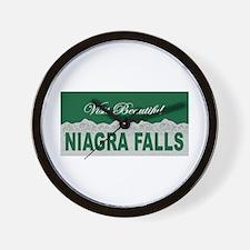 Visit Beautiful Niagra Falls Wall Clock