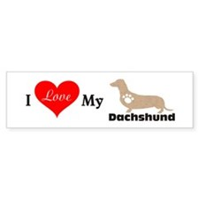 I Love My Dachshund 111 Bumper Bumper Sticker