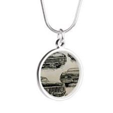'67 Chevy Impala Silver Round Necklace