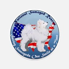 "National Samoyed Rescue 3.5"" Button"