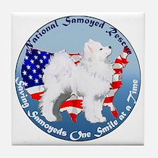 National Samoyed Rescue Tile Coaster