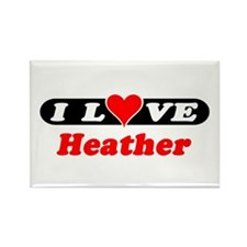 I Love Heather Rectangle Magnet (10 pack)
