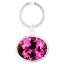 Pink Spinel Oval Keychain