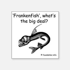 "Frankenfish Square Sticker 3"" x 3"""