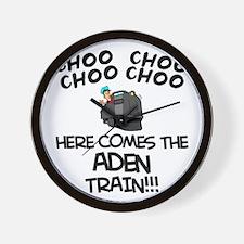 Aden Train Wall Clock