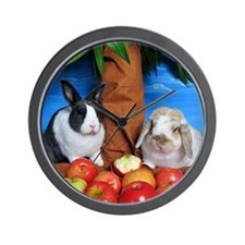 Dinah and Macintosh Picking Apples Wall Clock