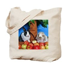 Dinah and Macintosh Picking Apples Tote Bag