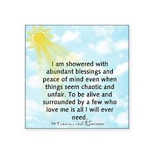 "Showered Blessings Mug Square Sticker 3"" x 3"""