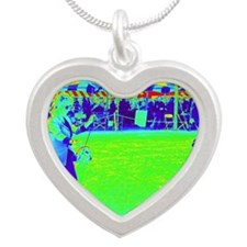 Dog show - exhibiting. Silver Heart Necklace