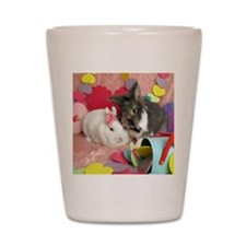 Olivia and Skyler, Valentine Bunnies Shot Glass
