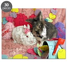 Olivia and Skyler, Valentine Bunnies Puzzle