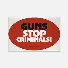 OTG 25 Guns Stop Criminals Sticke Rectangle Magnet