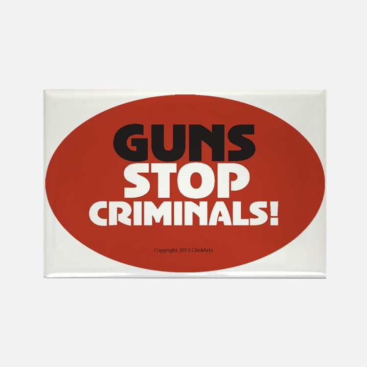 OTG 25 Guns Stop Criminals Sticke Rectangle Magnet