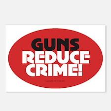 OTG 31 Guns Reduce Crime  Postcards (Package of 8)