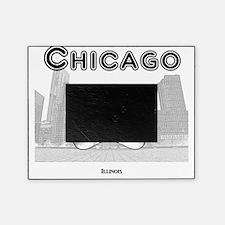 Chicago_12x12_ChicagoBeanSkyline_Bla Picture Frame