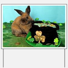 Buddy the Lucky Bunny Yard Sign