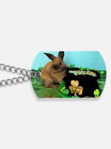 Buddy the Lucky Bunny Dog Tags