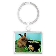 Buddy the Lucky Bunny Landscape Keychain