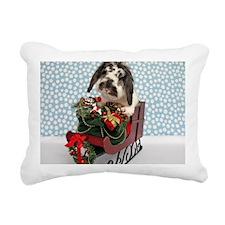 Dudley in Winter Sleigh Rectangular Canvas Pillow