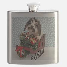Dudley in Winter Sleigh Flask