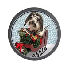 Dudley in Winter Sleigh Wall Clock