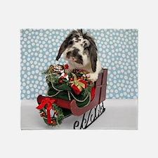 Dudley in Winter Sleigh Throw Blanket