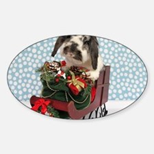 Dudley in Winter Sleigh Decal