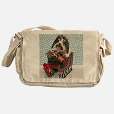 Dudley in Winter Sleigh Messenger Bag