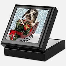 Dudley in Winter Sleigh Keepsake Box
