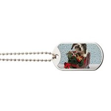 Dudley in Winter Sleigh Dog Tags