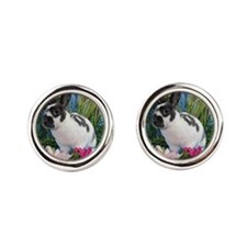 Buttercup Bunny on Lily Pads-2 Cufflinks