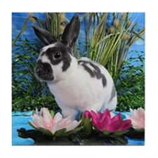 Buttercup Bunny on Lily Pads-2 Tile Coaster