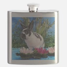 Buttercup Bunny on Lily Pads-2 Flask